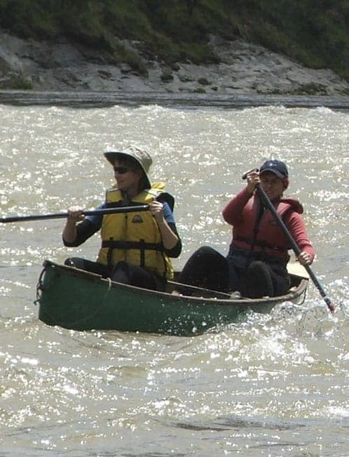 Canoeing on the Whanganui River